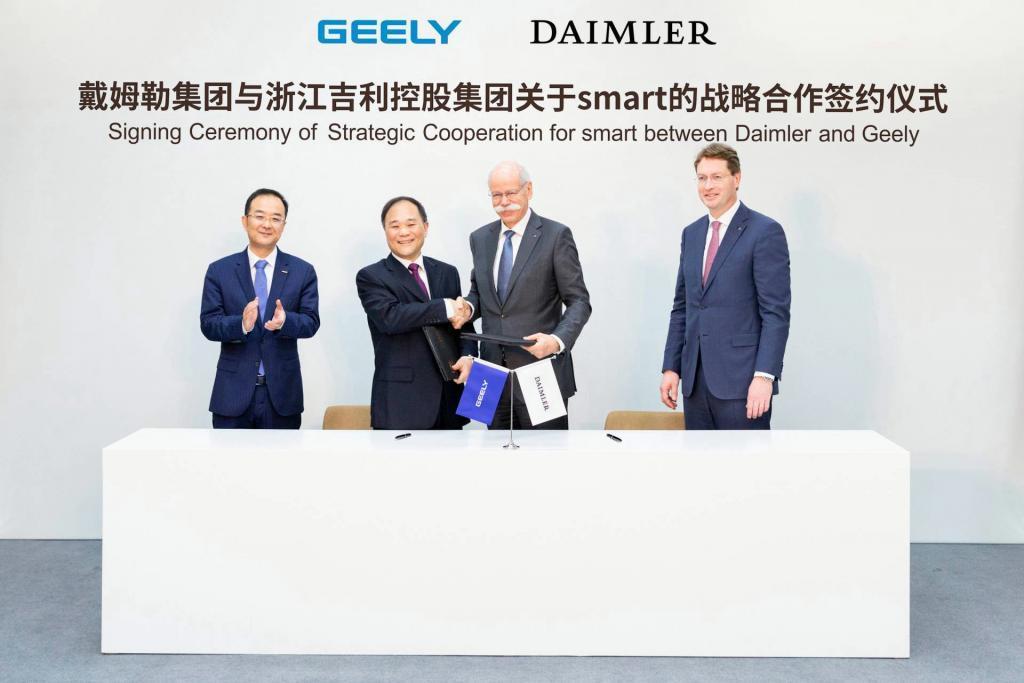 Geely Daimler joint venture Smart