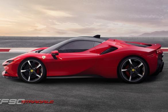 Ferrari SF90 Stradale Zijkant