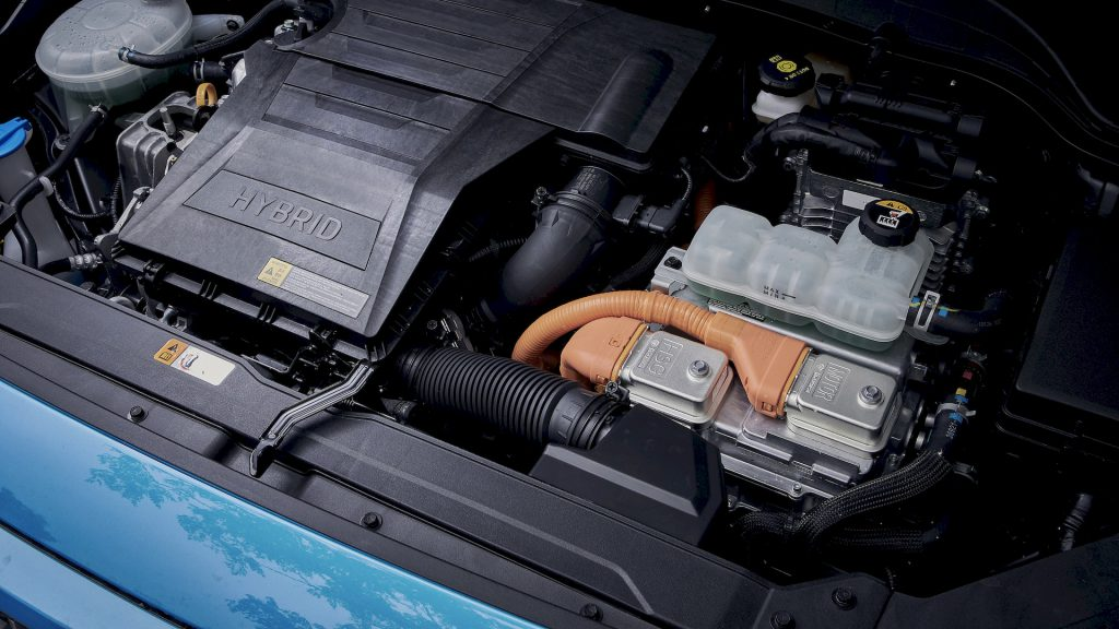 Hyundai KONA Hybrid aandrijflijn