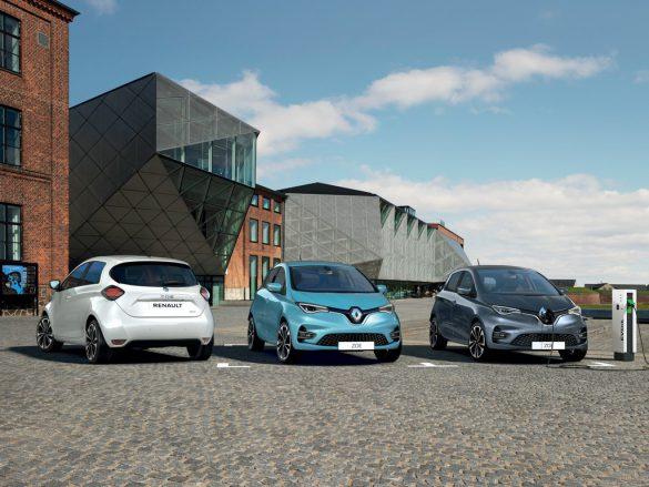 Renault Zoe - drie op een rij
