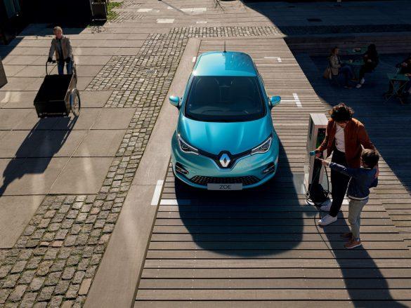 Renault Zoe - bovenaanzicht
