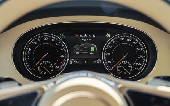 Bentley Bentayga Hybrid - klokken