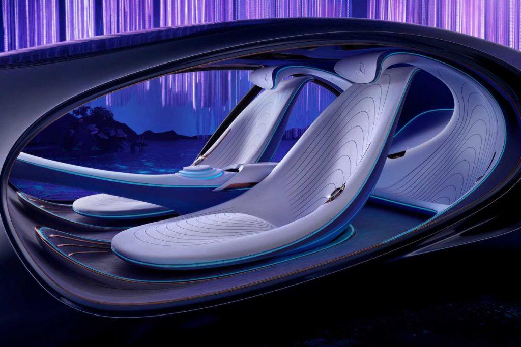 Het interieur van de Vision AVTR Concept.