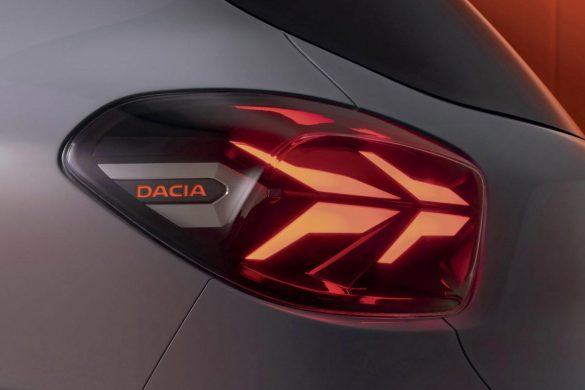 achterzijde Dacia Spring Electric