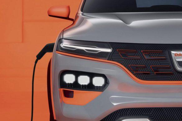 voorzijde Dacia Spring Electric