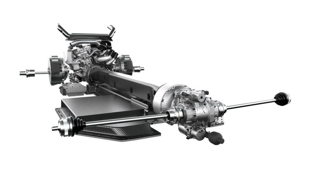 hybride supercar met vier motoren