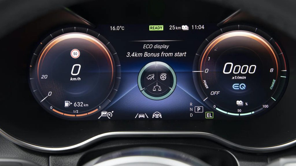 Mercedes-Benz plug-in hybride dashboard