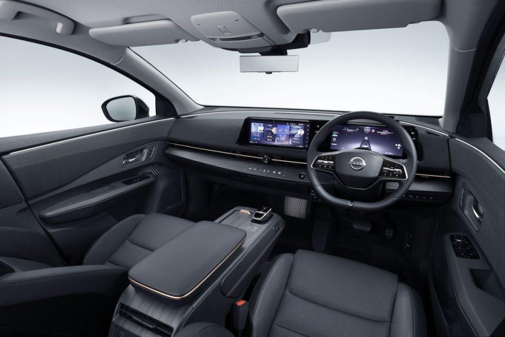 Binnenzijde Nissan Ariya