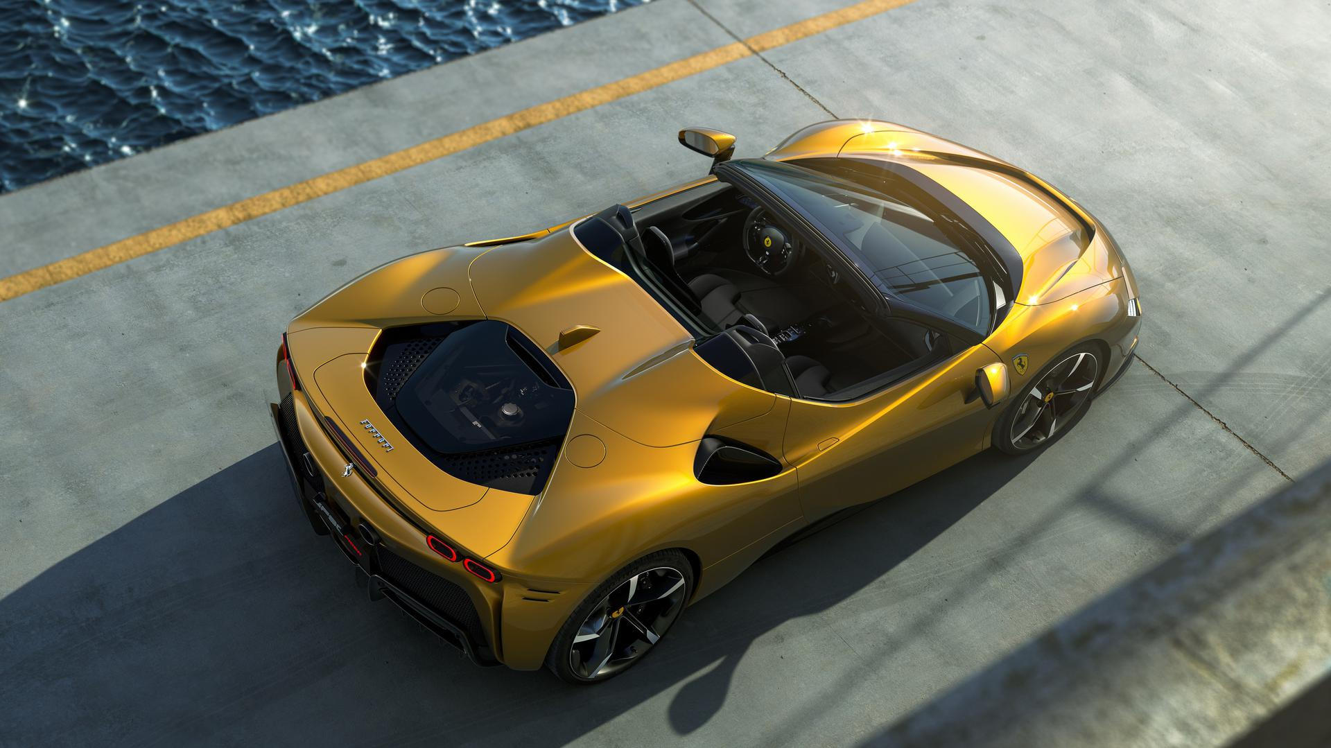 Ferrari SF90 Spider bovenzijde
