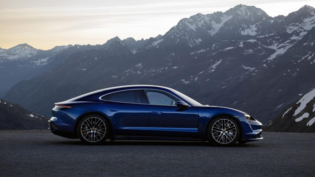 Porsche Taycan elektrische auto winnaar Das Goldene Lenkrad