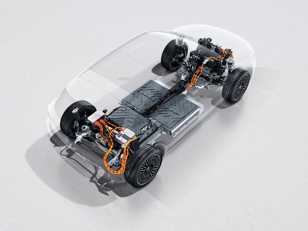 Mercedes EQA 4MATIC vierwielaandrijving aandrijflijn