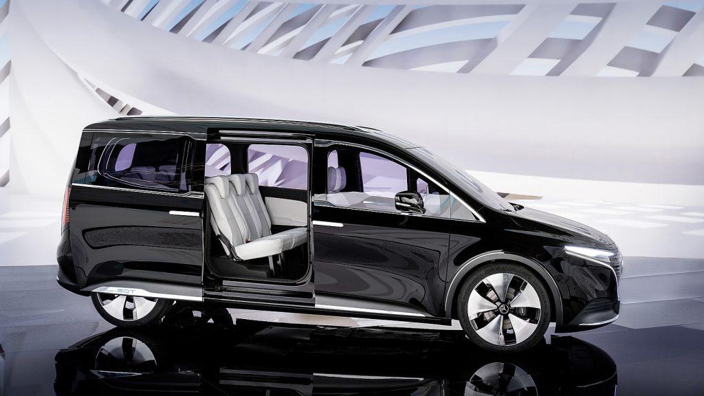 Mercedes Concept EQT interieur schuifdeuren minivan